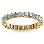 Asscher U-Prong Diamond Eternity Ring in Yellow Gold (2 ctw) | Thumbnail 02