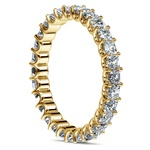 Asscher U-Prong Diamond Eternity Ring in Yellow Gold (2 ctw) | Thumbnail 04