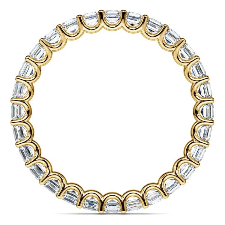 Asscher U-Prong Diamond Eternity Ring in Yellow Gold (2 ctw) | 03
