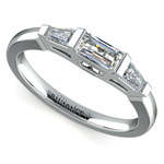 Baguette Diamond Wedding Ring in Platinum (1/2 ctw) | Thumbnail 01
