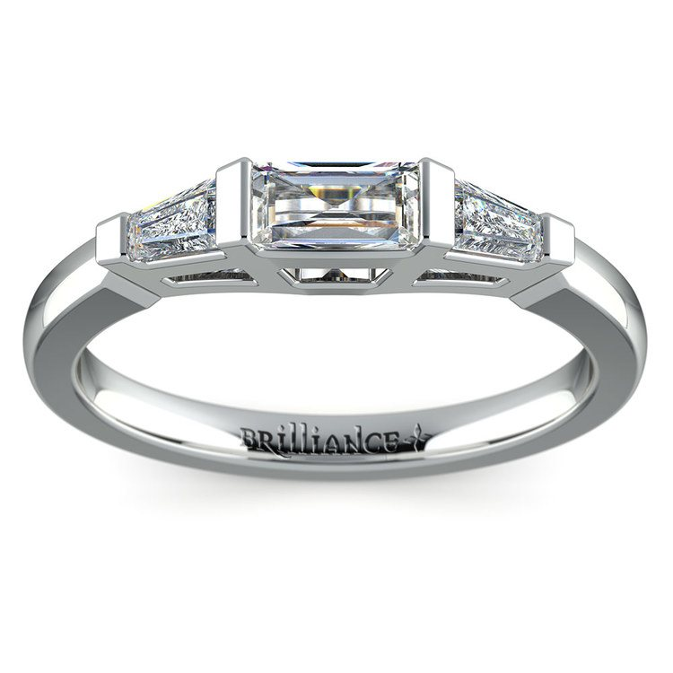 Baguette Diamond Wedding Ring in Platinum (1/2 ctw) | 02