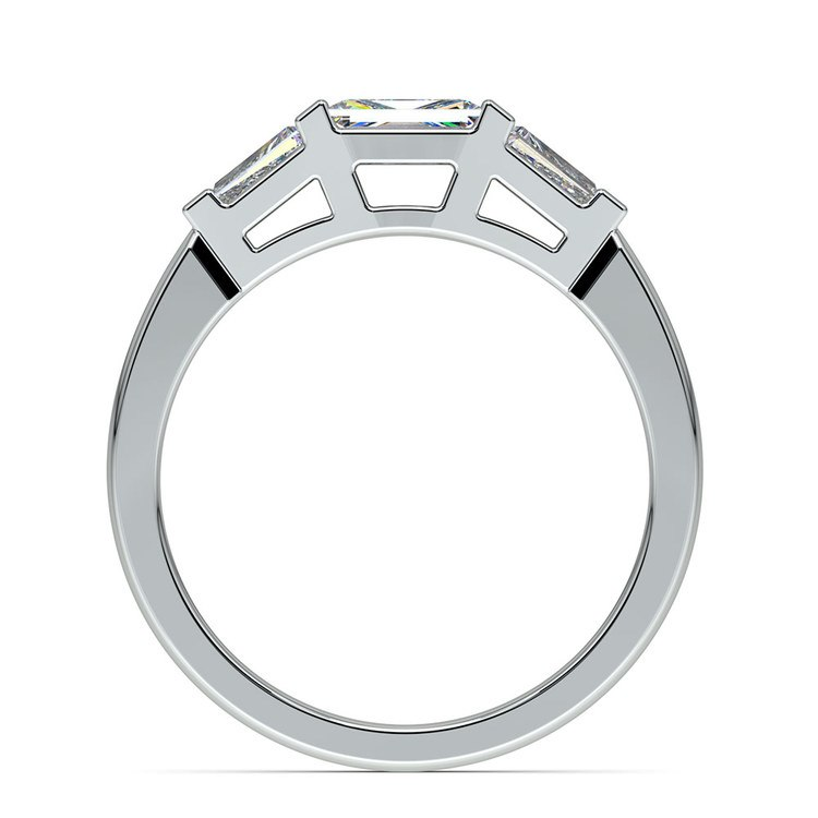 Baguette Diamond Wedding Ring in Platinum (1/2 ctw) | 03