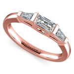 Baguette Diamond Wedding Ring in Rose Gold (1/2 ctw)   Thumbnail 01