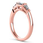 Baguette Diamond Wedding Ring in Rose Gold (1/2 ctw)   Thumbnail 04