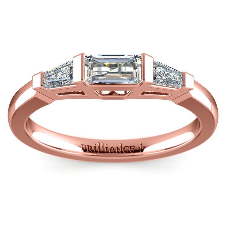 Baguette Diamond Wedding Ring in Rose Gold (1/2 ctw)   02