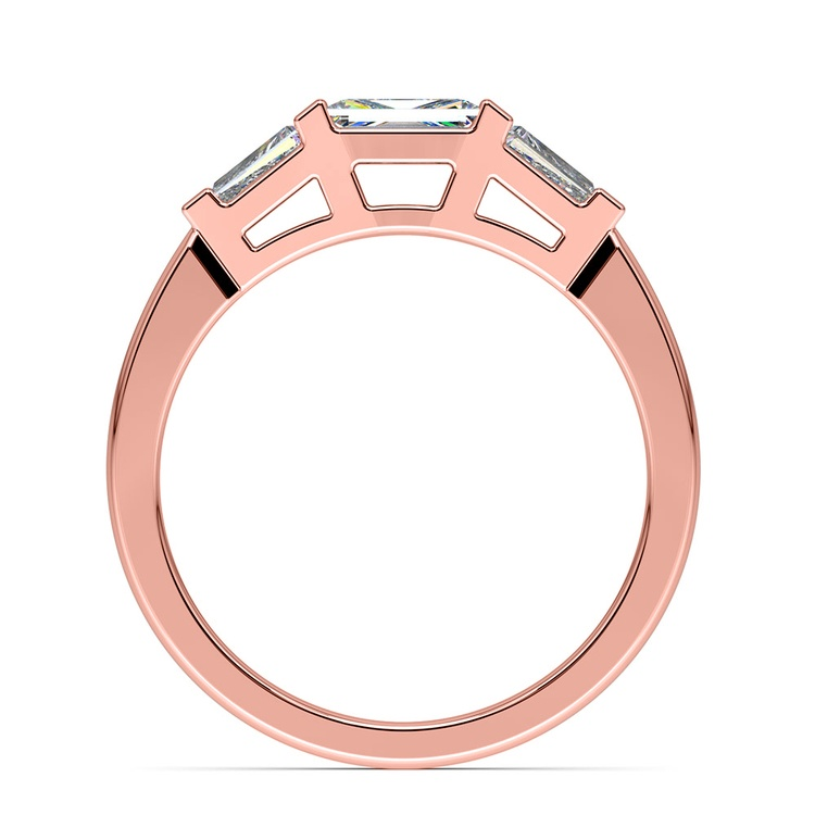 Baguette Diamond Wedding Ring in Rose Gold (1/2 ctw)   03
