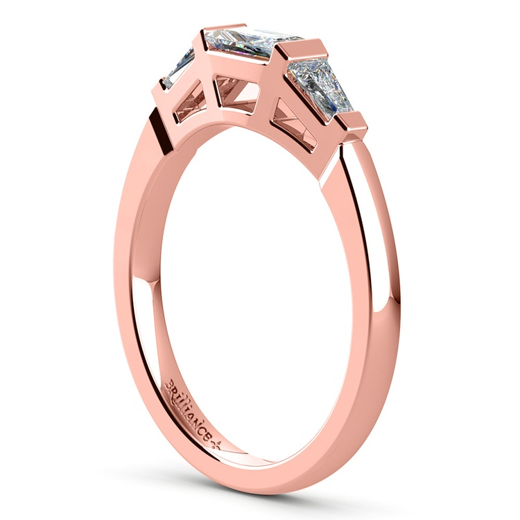 Baguette Diamond Wedding Ring in Rose Gold (1/2 ctw)   04