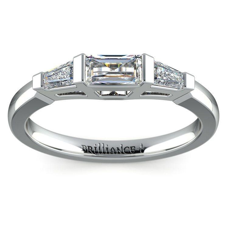 Baguette Diamond Wedding Ring in White Gold (1/2 ctw) | 02