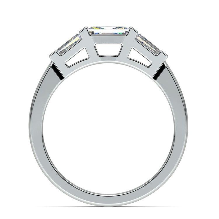 Baguette Diamond Wedding Ring in White Gold (1/2 ctw) | 03