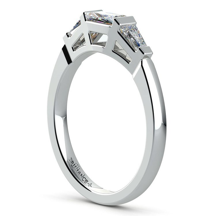 Baguette Diamond Wedding Ring in White Gold (1/2 ctw) | 04