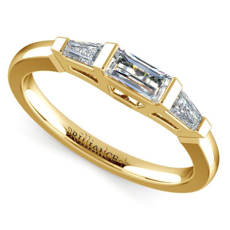 Baguette Diamond Wedding Ring in Yellow Gold (1/2 ctw) | 01
