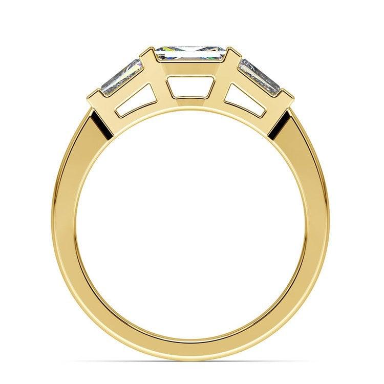 Baguette Diamond Wedding Ring in Yellow Gold (1/2 ctw) | 03