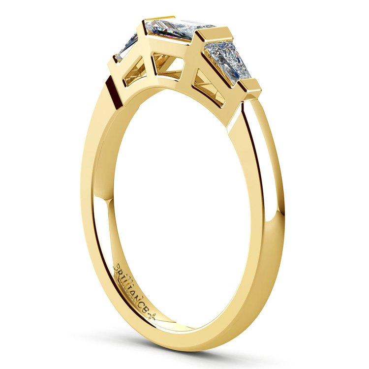 Baguette Diamond Wedding Ring in Yellow Gold (1/2 ctw) | 04