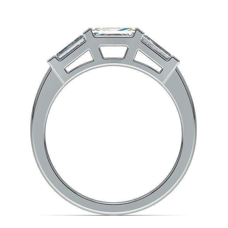 Baguette Diamond Wedding Ring in White Gold (3/5 ctw)   03