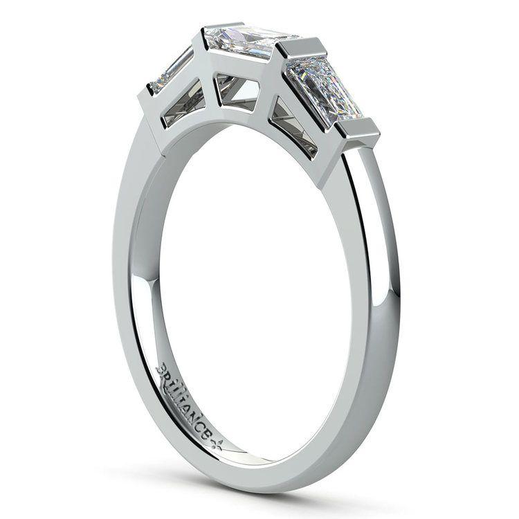 Baguette Diamond Wedding Ring in White Gold (3/5 ctw)   04
