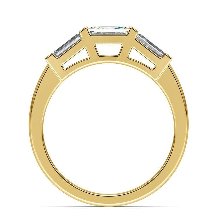 Baguette Diamond Wedding Ring in Yellow Gold (3/5 ctw) | 03