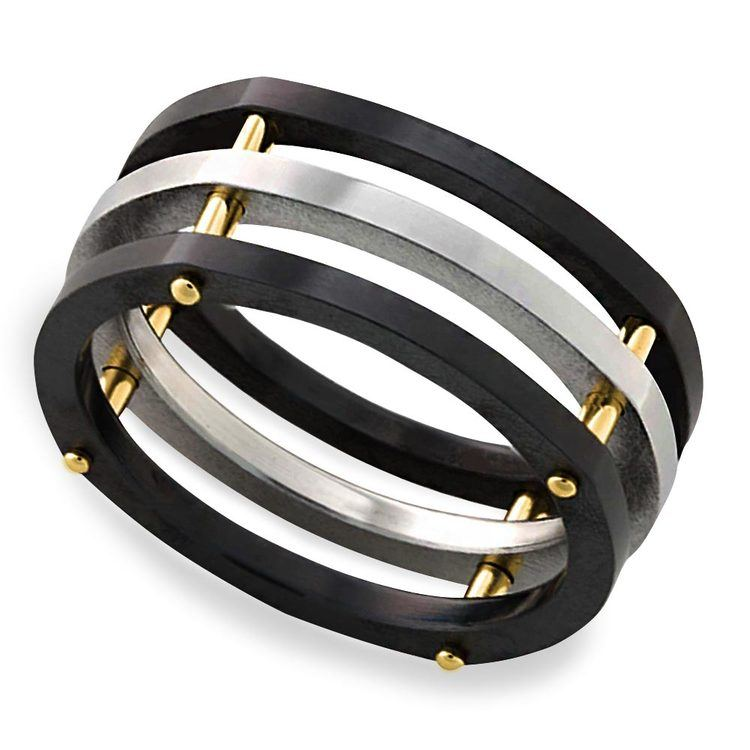 Hex - Cobalt & Zirconium Mens Ring | 01