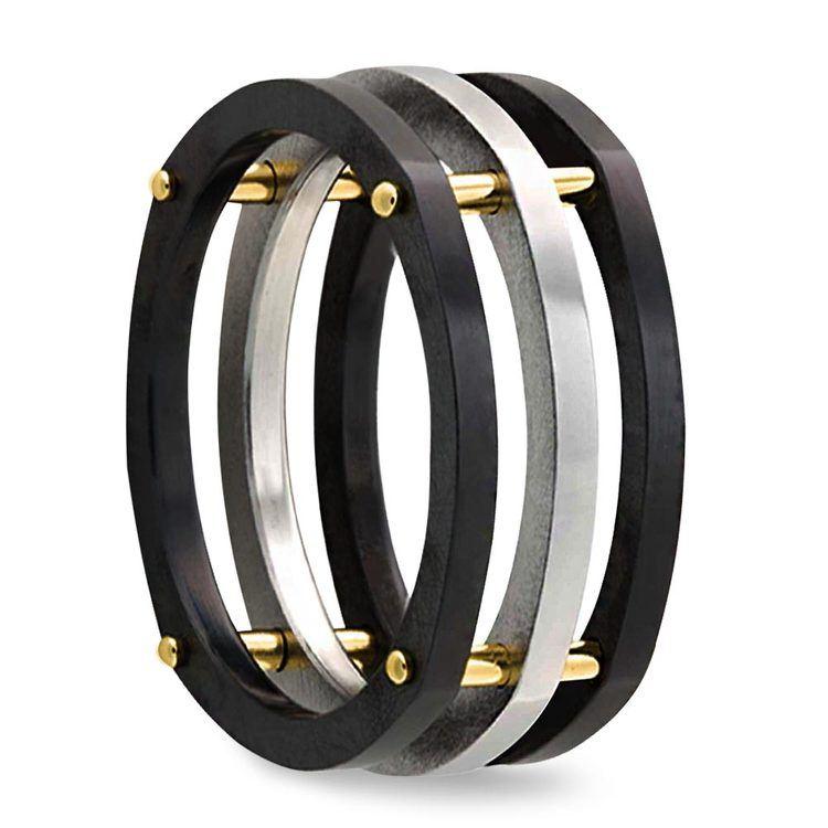 Hex - Cobalt & Zirconium Mens Ring | 02