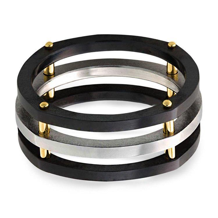 Hex - Cobalt & Zirconium Mens Ring | 03