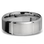 Bevel Segment Men's Wedding Ring in Titanium (8mm)   Thumbnail 03