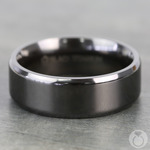 Beveled Edge Black Titanium Men's Wedding Ring (8mm) | Thumbnail 03