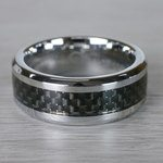 Beveled Carbon Fiber Inlay Men's Wedding Ring in Cobalt   Thumbnail 03