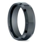 Beveled Men's Wedding Ring in Ceramic | Thumbnail 02
