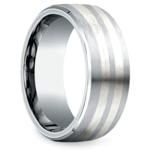 Beveled Men's Wedding Ring in Cobalt/Silver (8mm) | Thumbnail 02