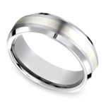 Beveled Men's Wedding Ring in Cobalt/Silver (7mm) | Thumbnail 01