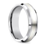 Beveled Men's Wedding Ring in Cobalt/Silver (7mm) | Thumbnail 02