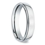 Beveled Men's Wedding Ring in Palladium (5mm) | Thumbnail 02