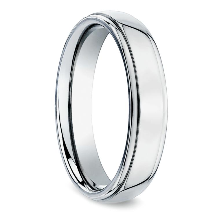 Beveled Men's Wedding Ring in Palladium (5mm) | 02