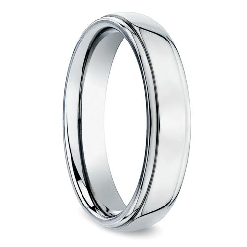beveled mens wedding ring in platinum 5mm - Mens Platinum Wedding Ring