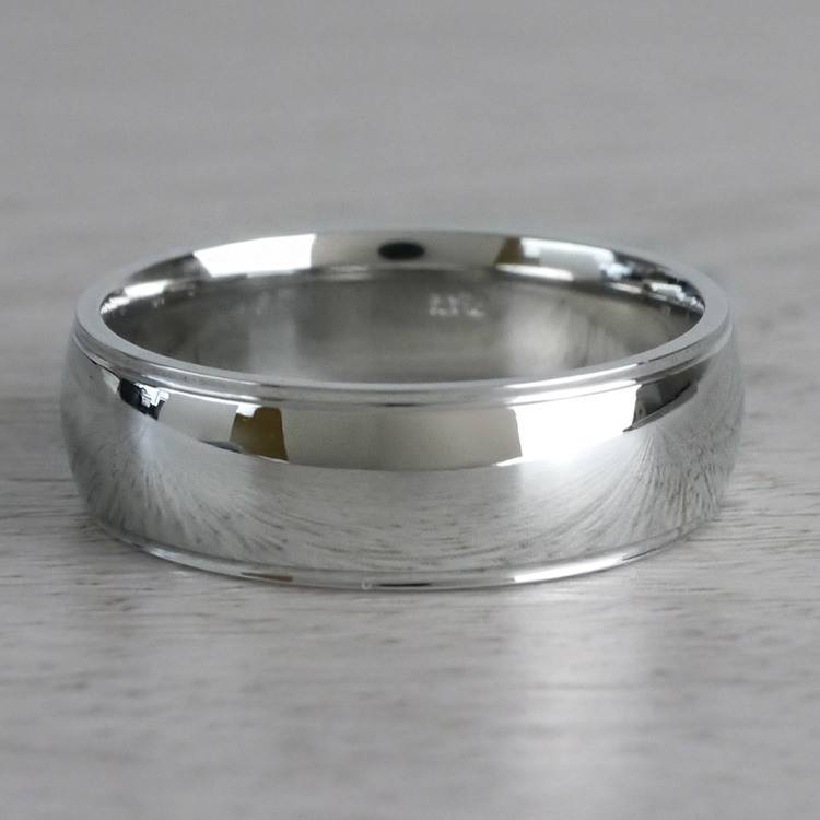 Beveled Men's Wedding Ring in Platinum | 03