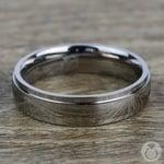 Beveled Men's Wedding Ring in Titanium (5mm) | Thumbnail 03