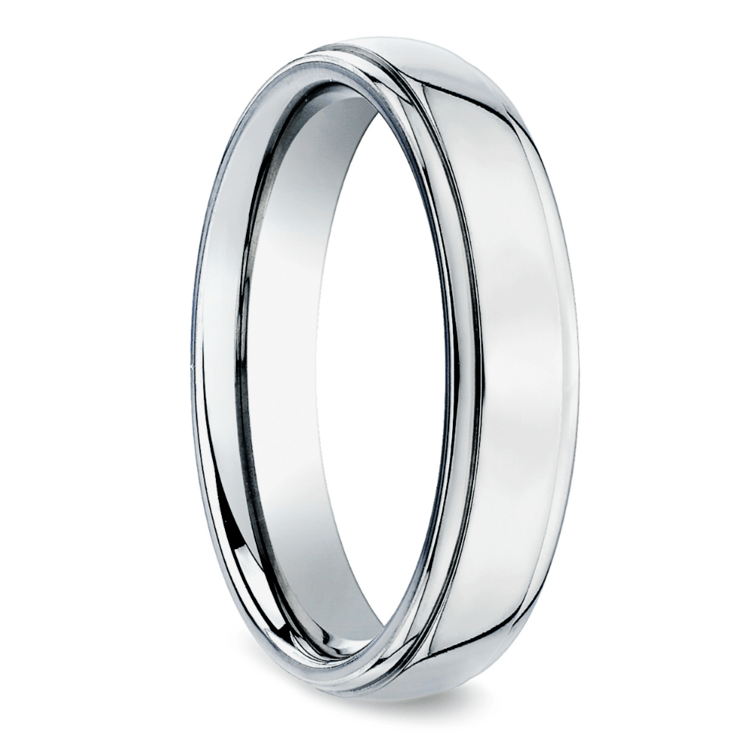 Beveled Men's Wedding Ring in Titanium (5mm) | 02