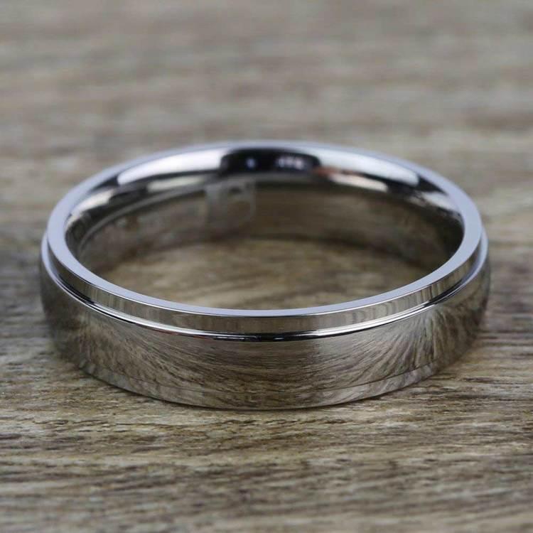 Beveled Men's Wedding Ring in Titanium (5mm) | 03