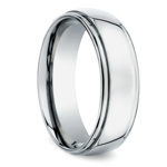 Beveled Men's Wedding Ring in Titanium (7mm) | Thumbnail 02