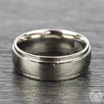 Beveled Men's Wedding Ring in Titanium (7mm) | Thumbnail 03
