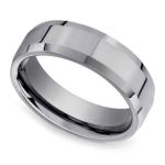 Beveled Men's Wedding Ring in Tungsten (6mm) | Thumbnail 01