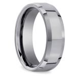 Beveled Men's Wedding Ring in Tungsten (6mm) | Thumbnail 02