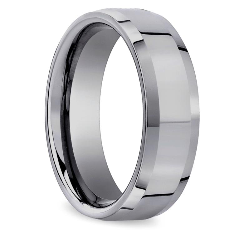 Beveled Men's Wedding Ring in Tungsten (6mm) | 02