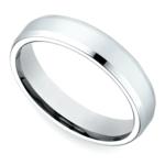 Beveled Men's Wedding Ring in White Gold (4mm) | Thumbnail 01
