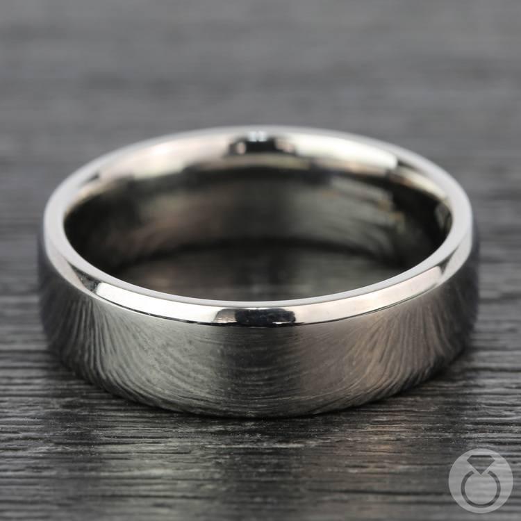 Beveled Men's Wedding Ring in Titanium   04