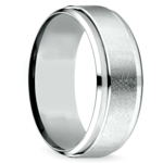 Beveled Swirl Men's Wedding Ring in Palladium | Thumbnail 02