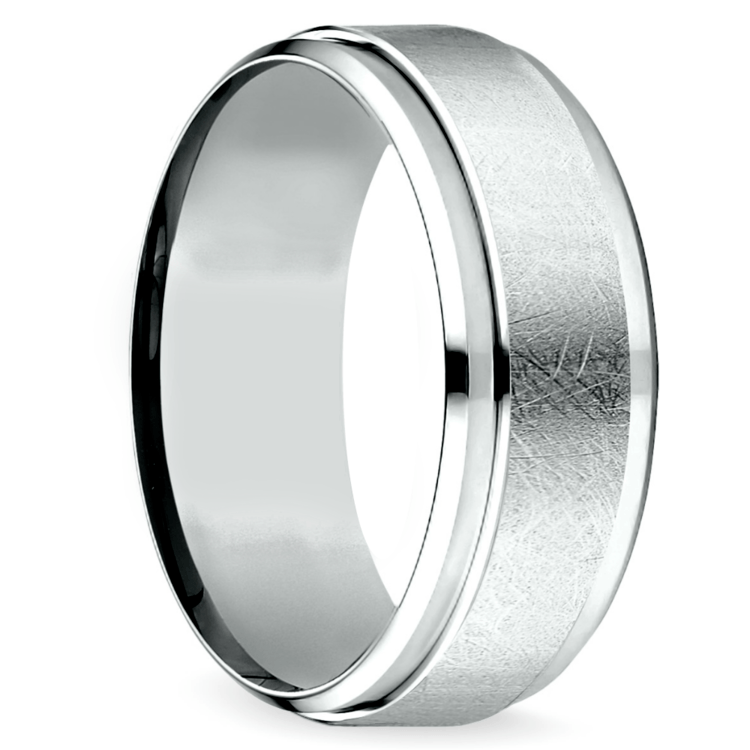Beveled Swirl Men's Wedding Ring in Palladium | 02