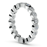 Bezel Diamond Eternity Ring in Platinum (1 ctw) | Thumbnail 04