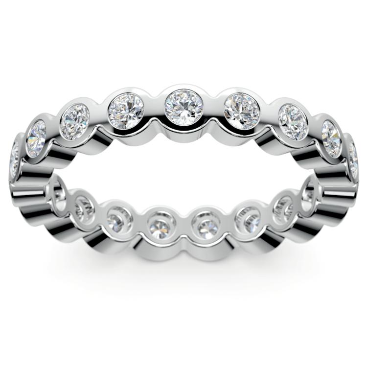 Bezel Diamond Eternity Ring in Platinum (1 ctw) | 02