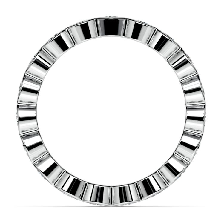 Bezel Diamond Eternity Ring in Platinum (1 ctw) | 03