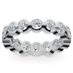 Bezel Diamond Eternity Ring in Platinum (2 ctw) | Thumbnail 02